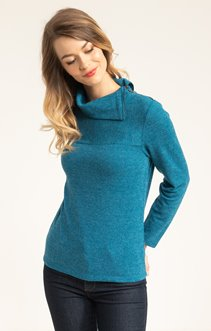 PULL COL CASSE MANCHES LONGUES