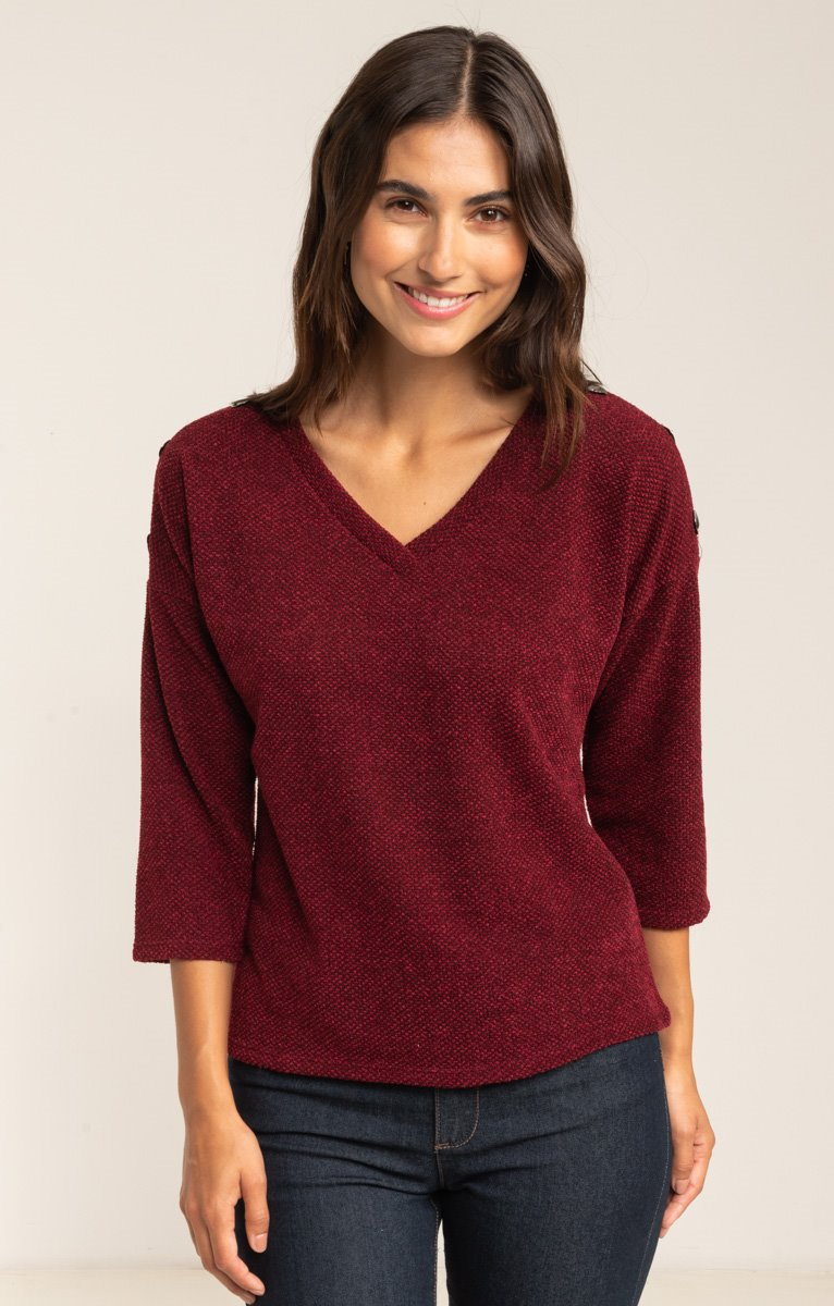 PULL FANTAISIE EMMANCHURES DESCENDUES