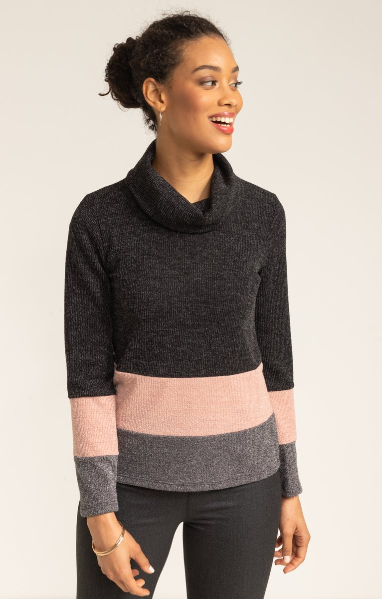 PULL COL BOULE PATCH
