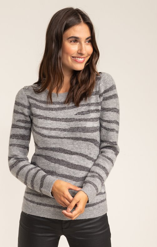 PULL MANCHES LONGUES COL BATEAU