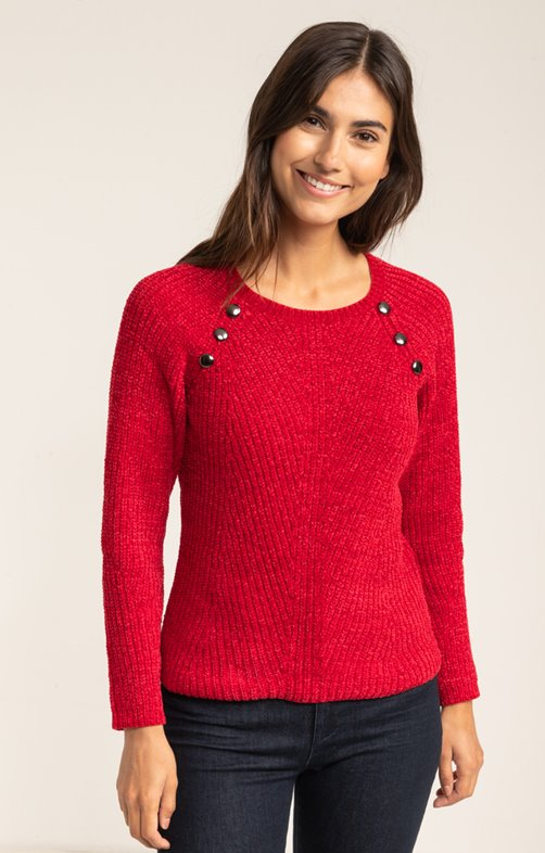 PULL COL ROND EN COTE ANGLAISE