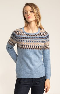PULL COL ROND JACQUARD PLACE