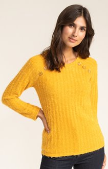 PULL COL ROND COTES PLATES MAILLE POILU