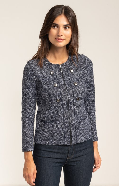 CARDIGAN ZIPPE DETAILS BTN PLACEES