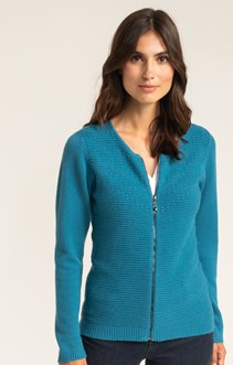 CARDIGAN ZIPPE POINT FANTAISIE