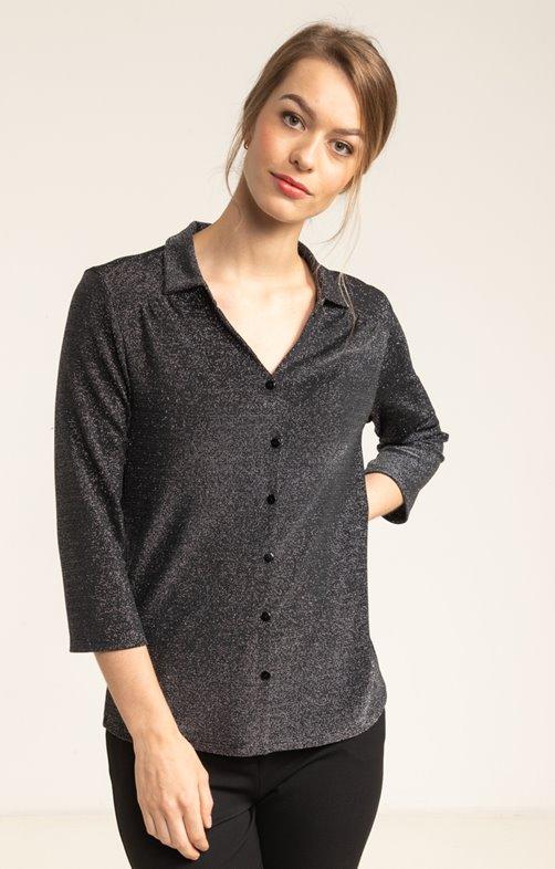 tee shirt chemise manches 3/4 tissu fête