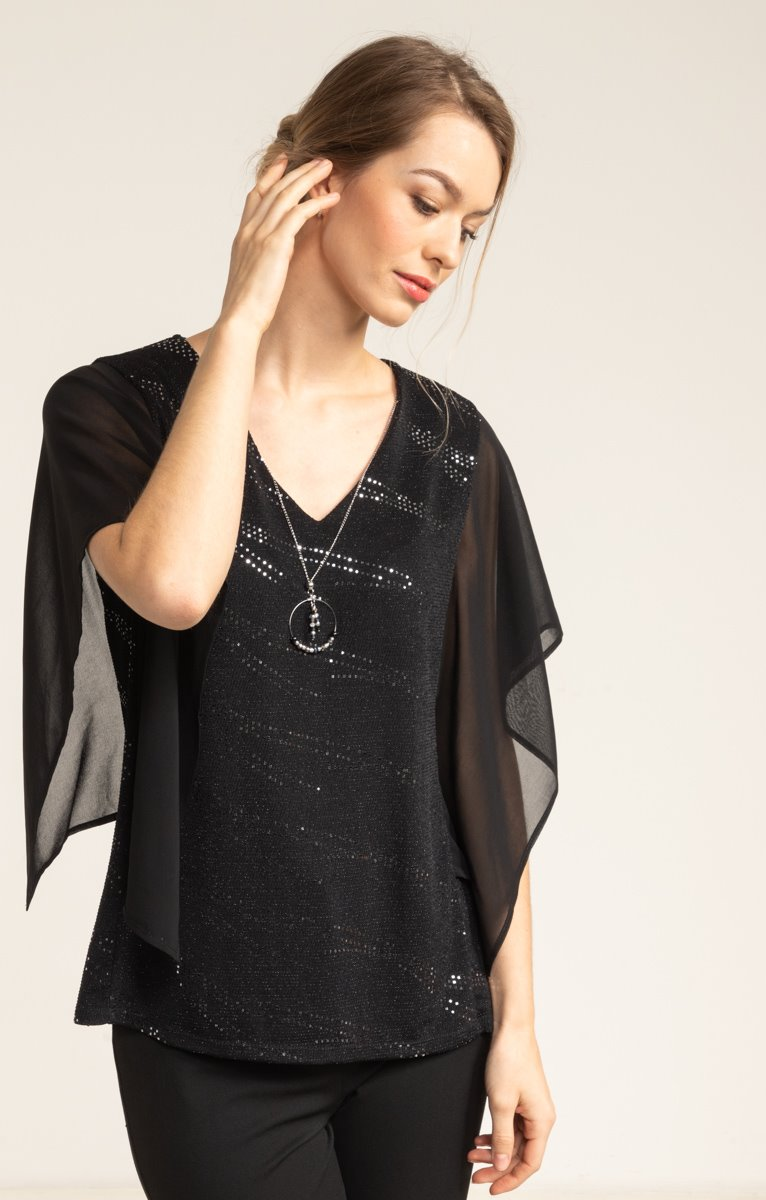 tee shirt forme poncho mix voile