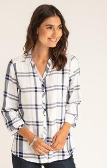 Chemise boutonnée avec dentelle