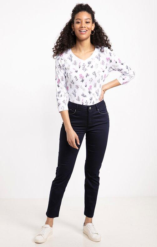 pantalon 7/8ème avec mini zip