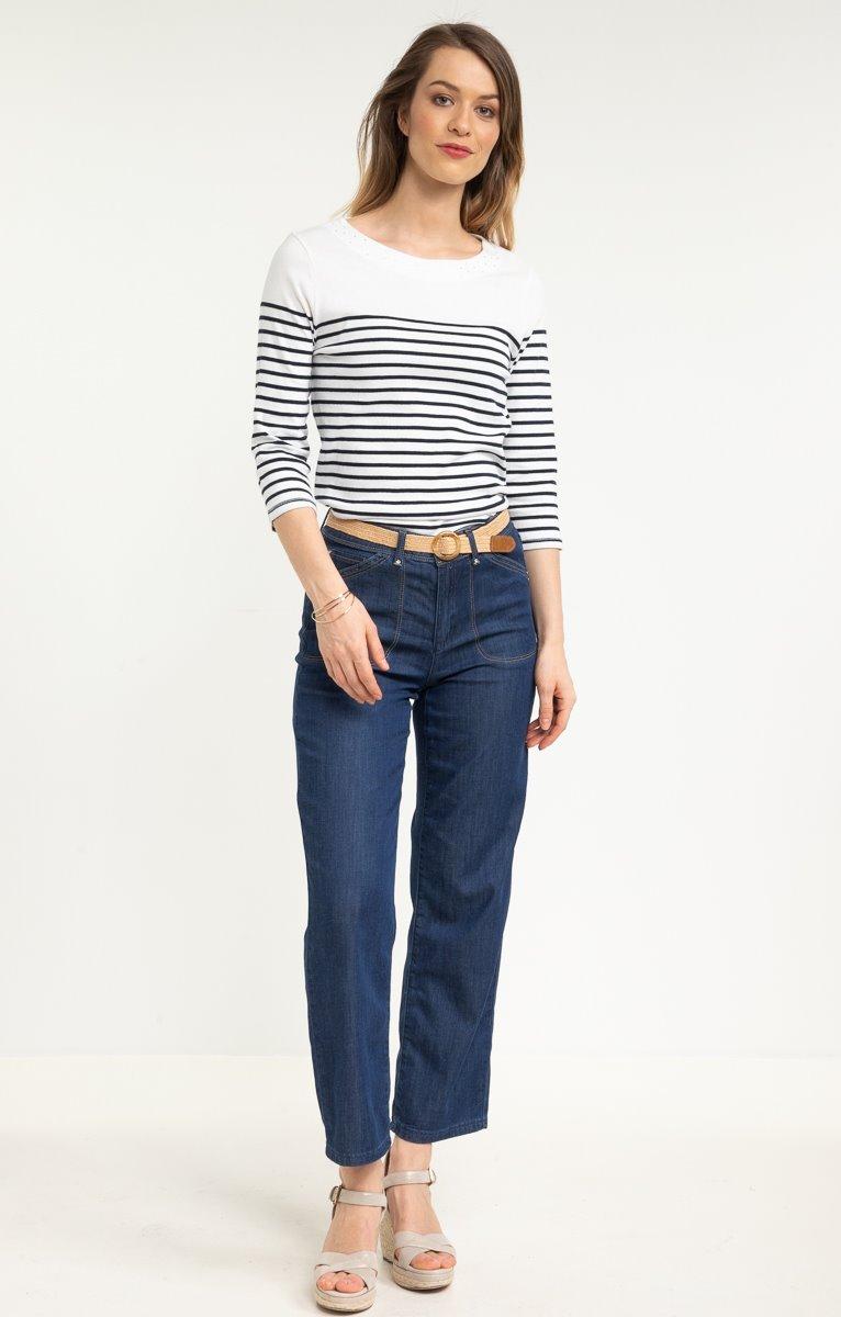 Pantalon large en Tencel avec ceinture