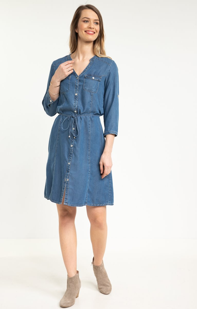 Robe en tencel denim