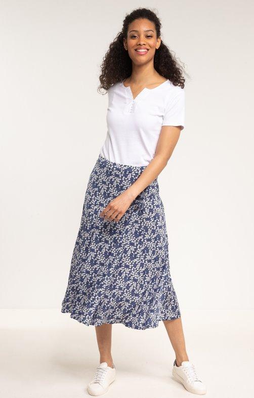 Longue jupe imprimée