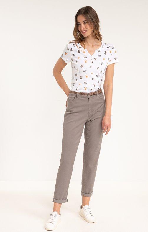 Pantalon en Tencel et Coton