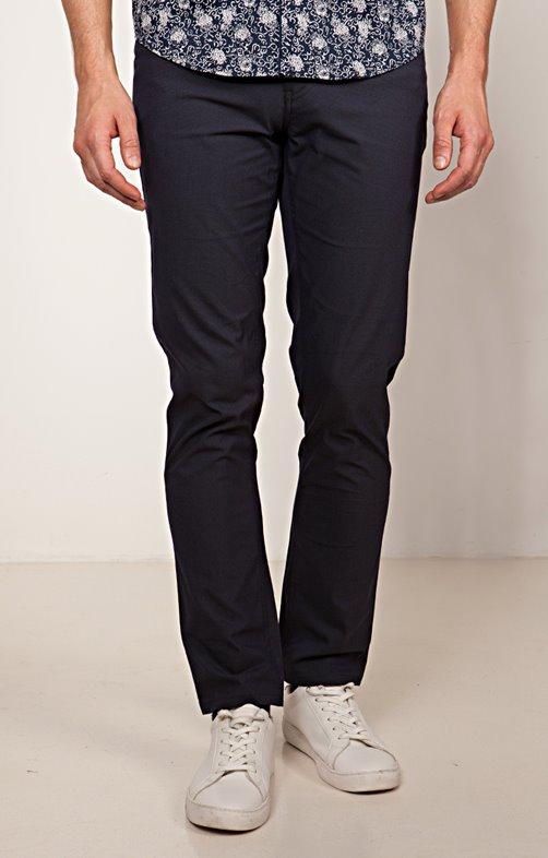 Pantalon 5 poches coupe ajustée Navy