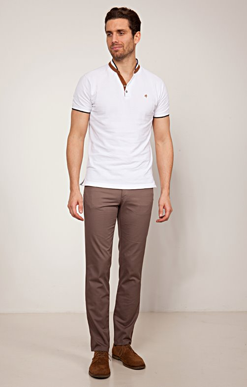 Pantalon 5 poches polycoton