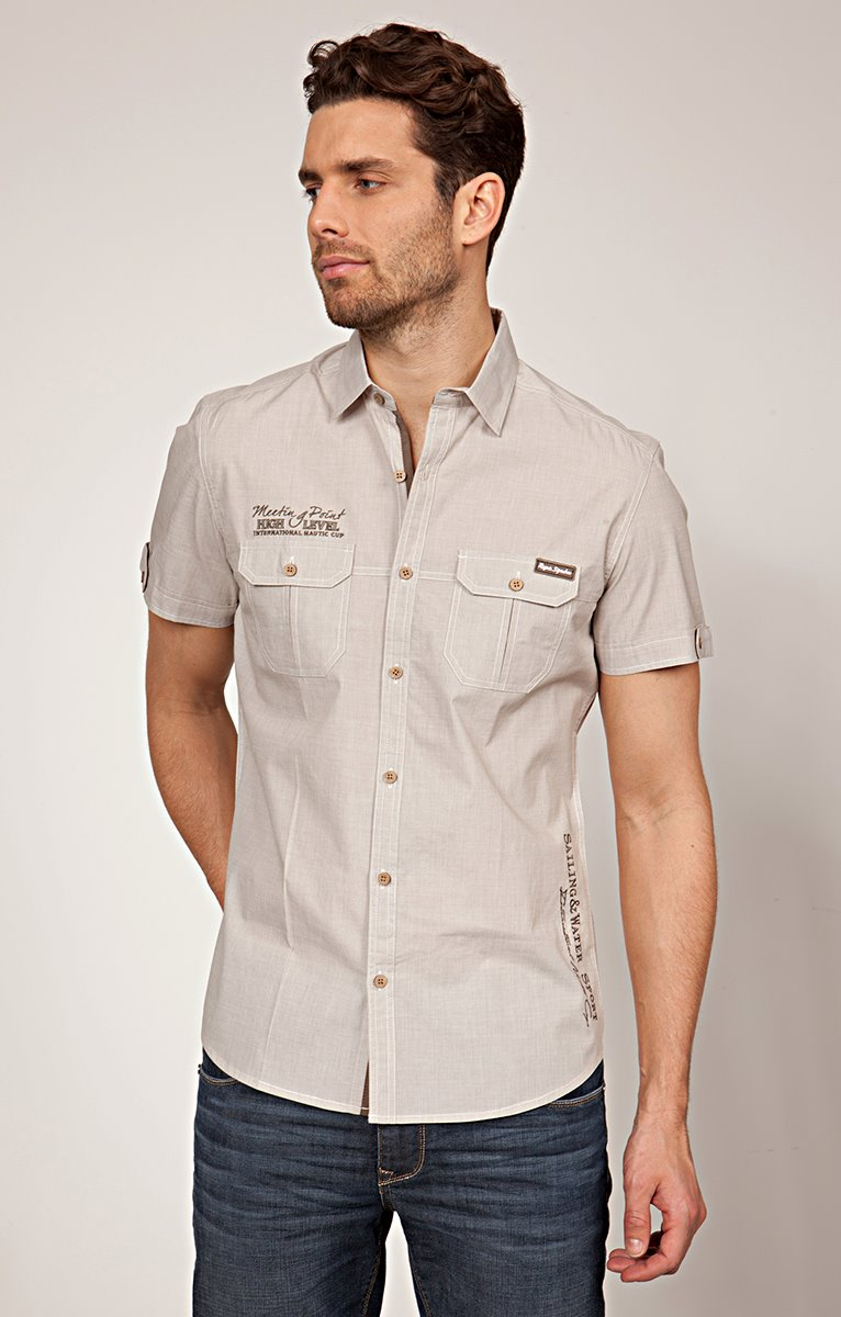 CHEMISE MANCHES COURTES A BRODERIES
