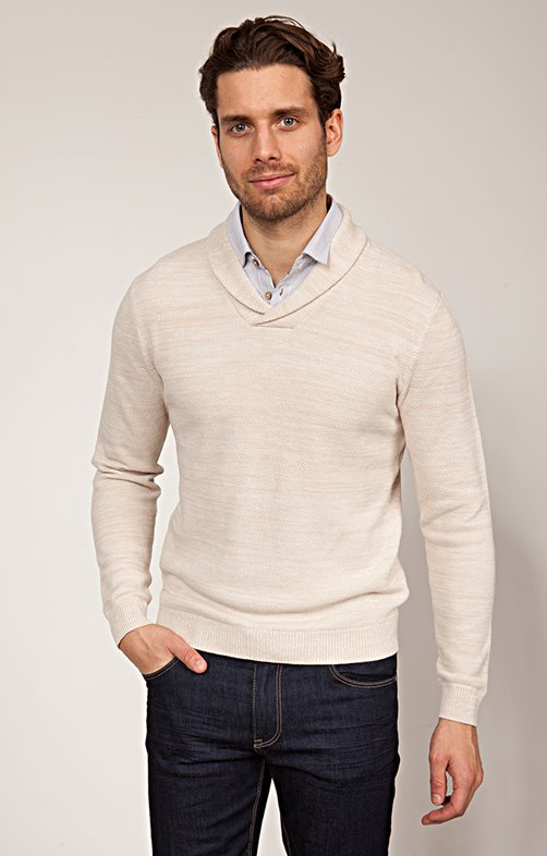 Pull col Chale avec chemise