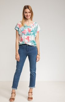 Pantalon denim 7/8