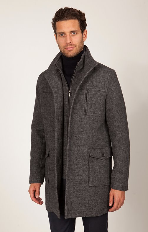 Manteau Mi-Long Mouline