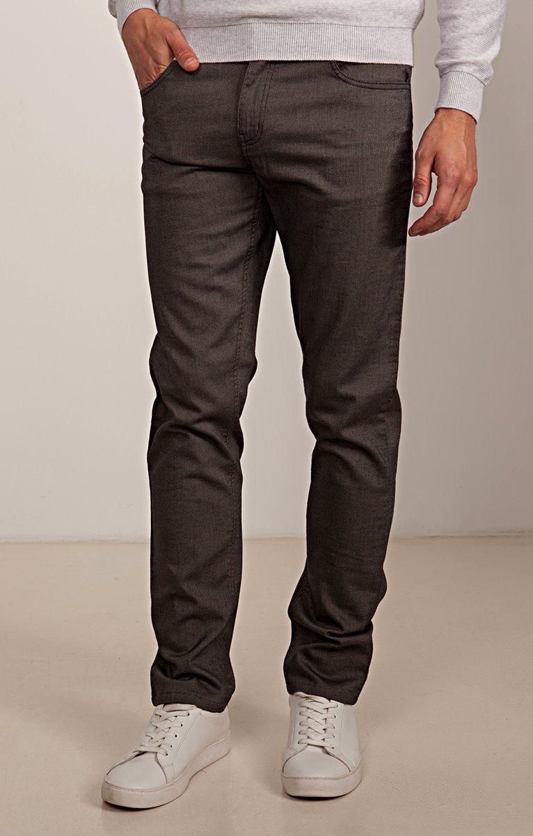 Pantalon 5 poches ajusté Anthra
