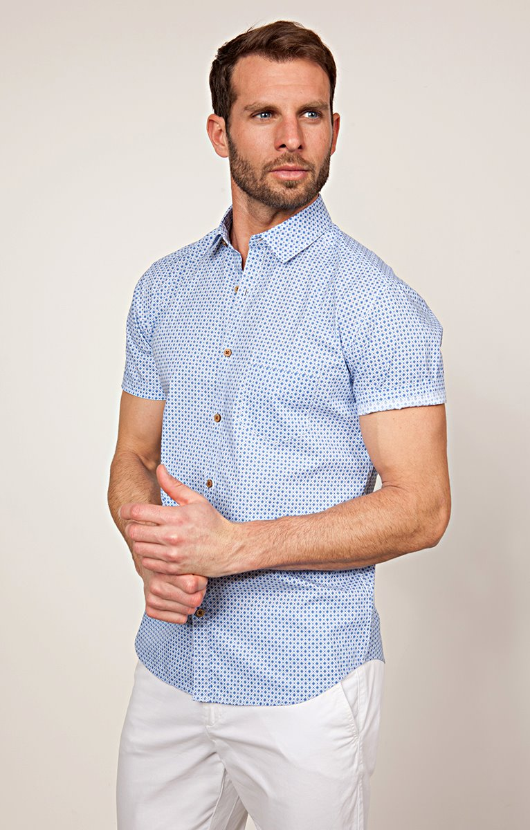 CHEMISE MANCHES COURTES TISSU RECYCLE