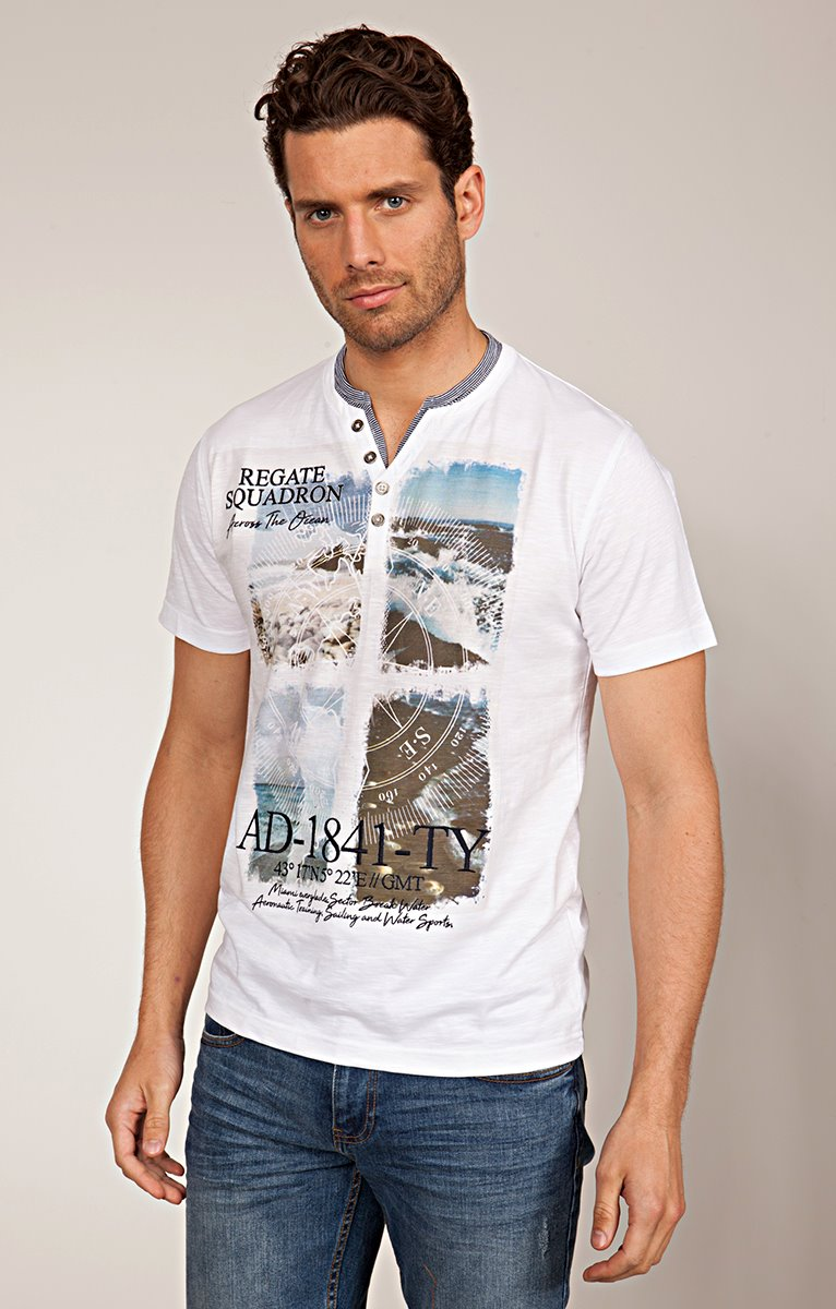 TEE-SHIRT IMPRIME PLAGE