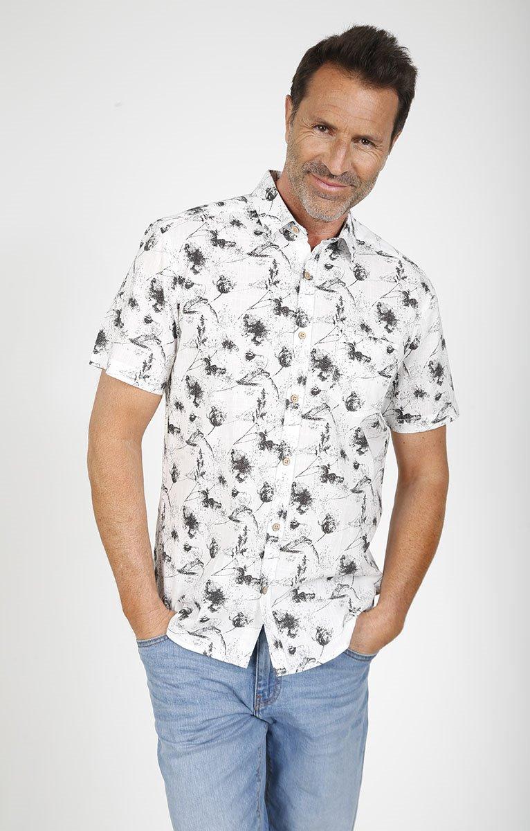 chemise imprimée fluide paco