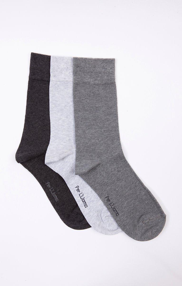 Chaussettes unies mix gris