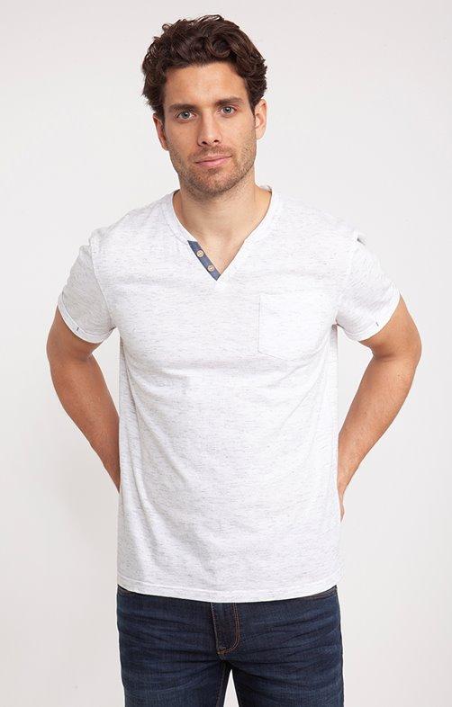 Tee shirt manches courtes plume