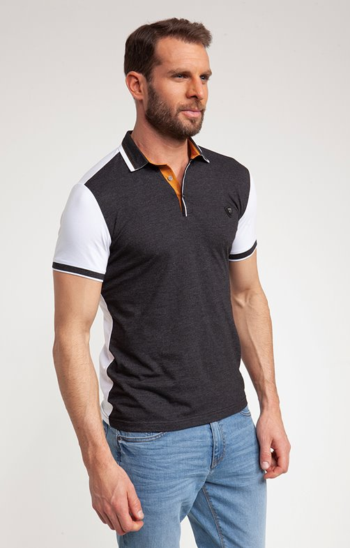 Polo manches courtes dark grey