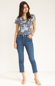PANTACOURT DENIM AVEC STRASS