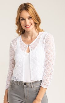 CARDIGAN COURT TRICOTAGE FANTAISIE