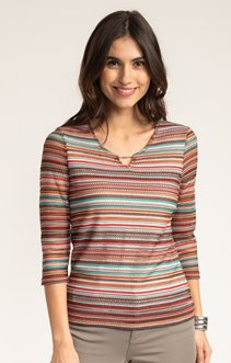 Pull maille fantaisie multicolore