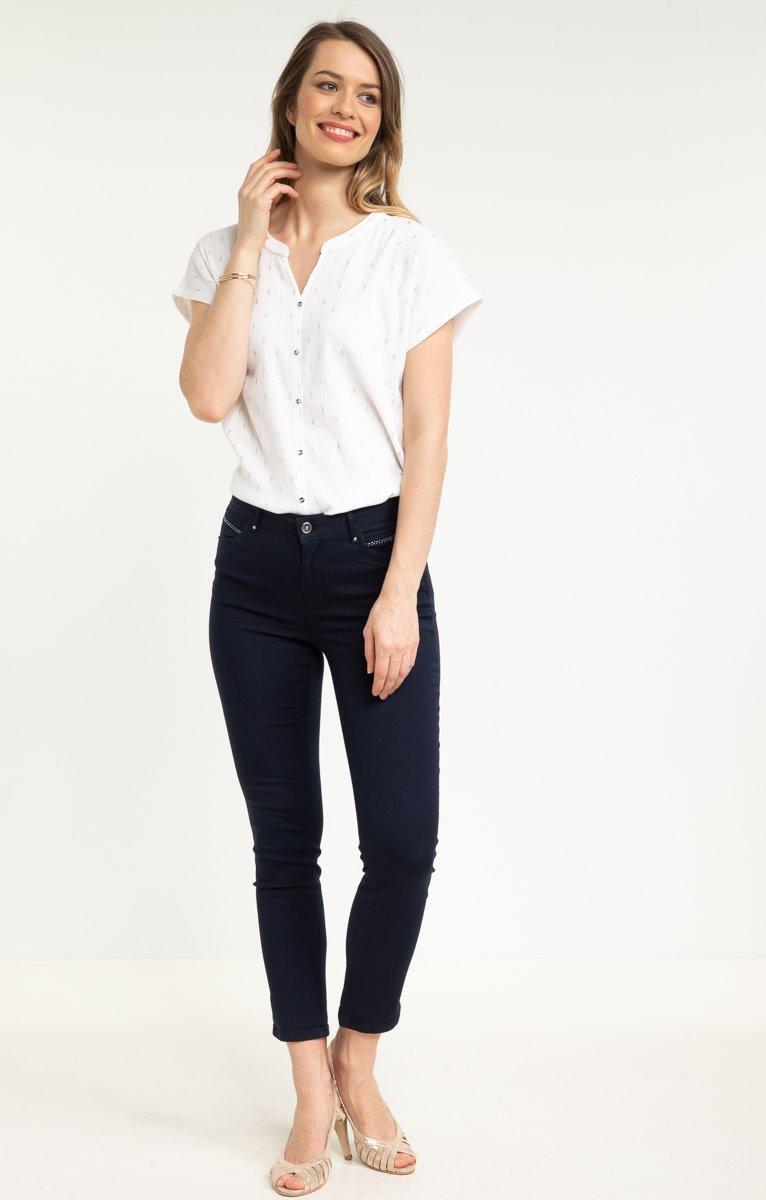 pantalon 7/8ème avec strass