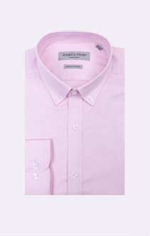 Chemise oxford rose