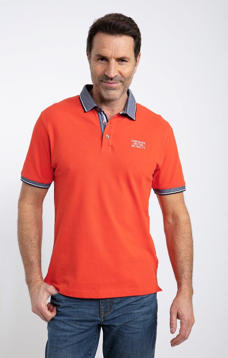 Polo manches courtes orange