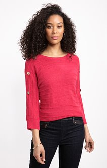 PULL RUBAN TRICOTAGE EFFET RAYURES