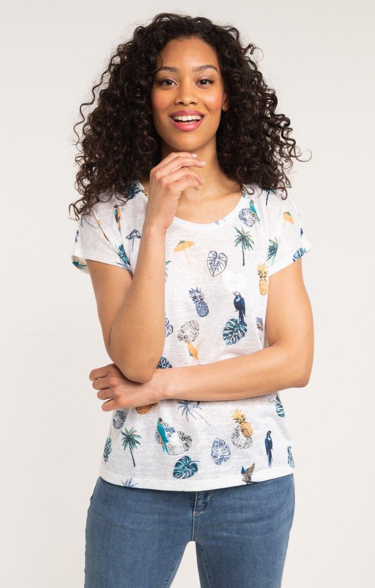 tee shirt manches courtes imprime