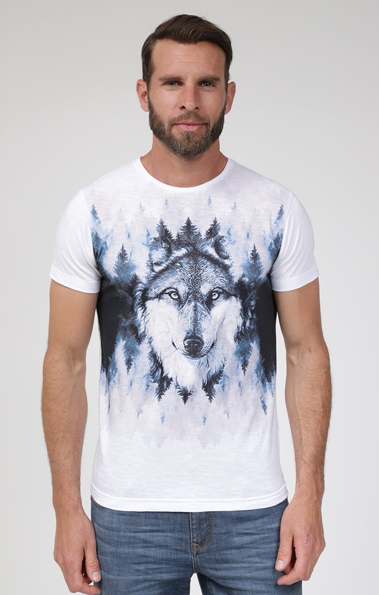 Tee shirt manches courtes loup
