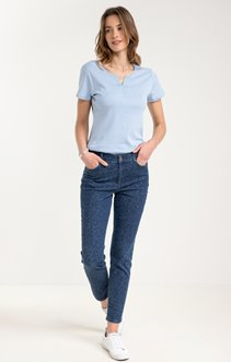 Pantalon imprimé en denim