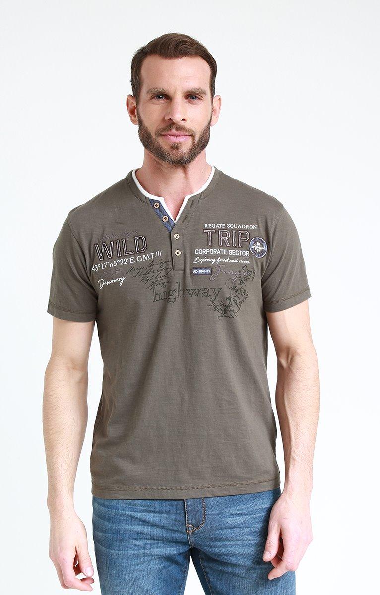 Tee shirt manches courtes framboise