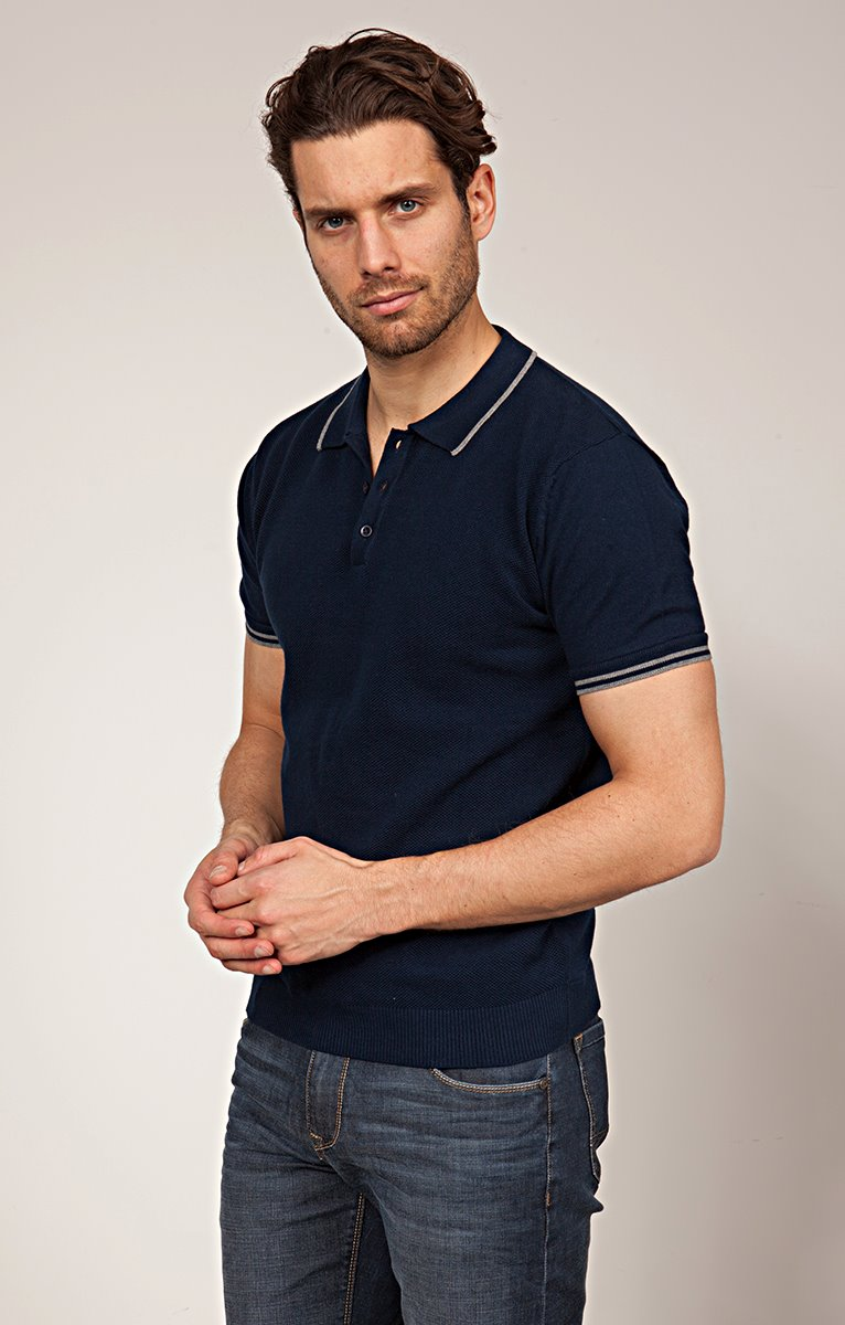 Pull polo manches courtes