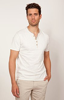 tee-shirt col tunisien coton bio