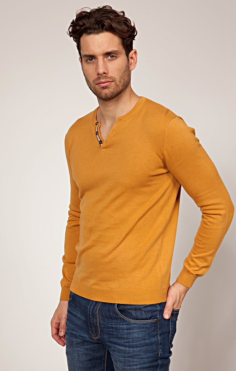 Pull col tunisien couleur
