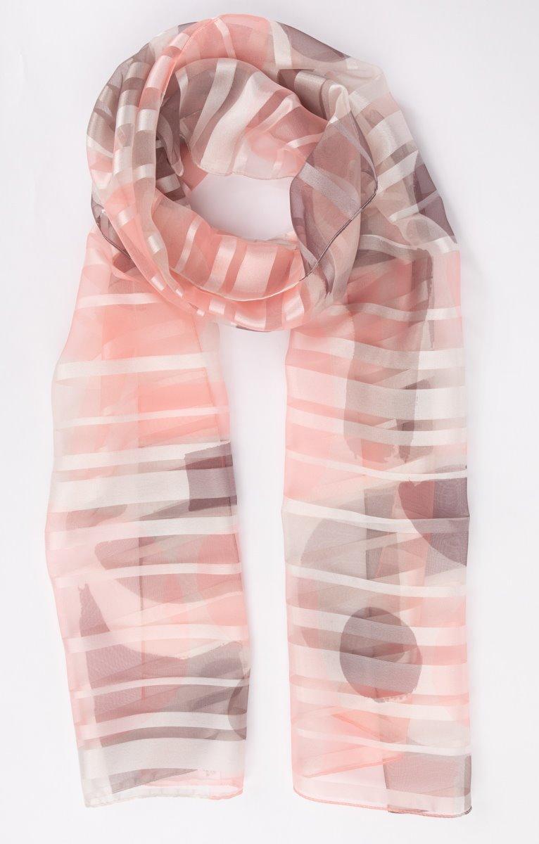 Petit foulard à bande satin imprimé