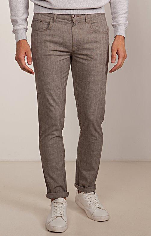 999e2f9060fe8 Pantalon 5 poches Prince de Galles