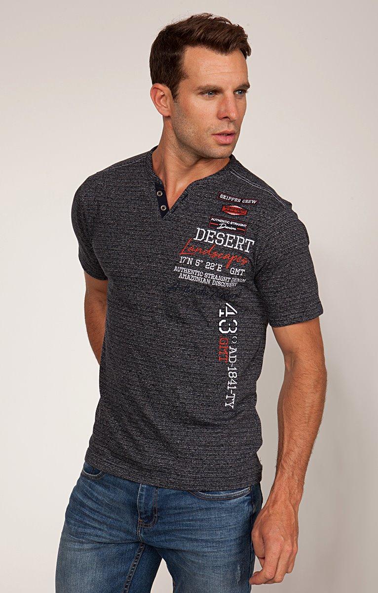 Tee-shirt col tunisien