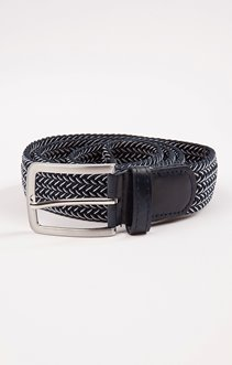 Ceinture sangle tressée bicolore