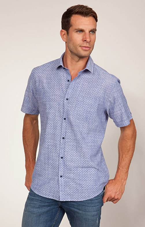 Chemise Casual Coton effet Lin