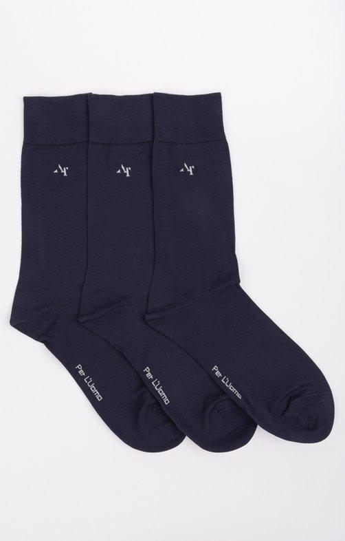 3 paires de chaussettes mercerisées